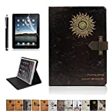 iPad Air Case,DINGRICH Retro Fate Turntable PU leather Folio Case Cover with Smart Feature(Built-In Magnet For Sleep/Wake Feature)for iPad Air(2013 Release Only)Screen Protector+Stylus Include(A11)