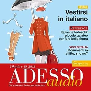 ADESSO audio - Vestirsi in italiano. 10/2013 Hörbuch