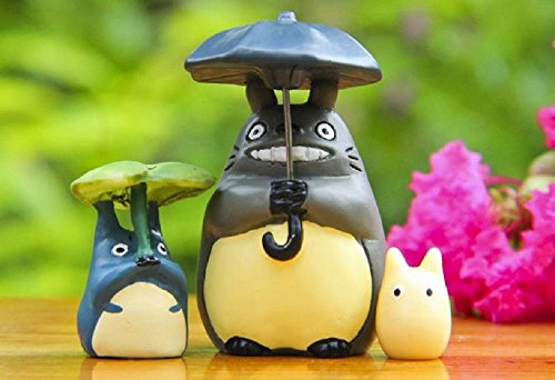 [3pcs/lot Studio Ghibli Toy Miyazaki Hayao My Neighbor Totoro PVC Action Figure Collection Model Kids Toys for Garden] (Mr Gold Lego Costume)