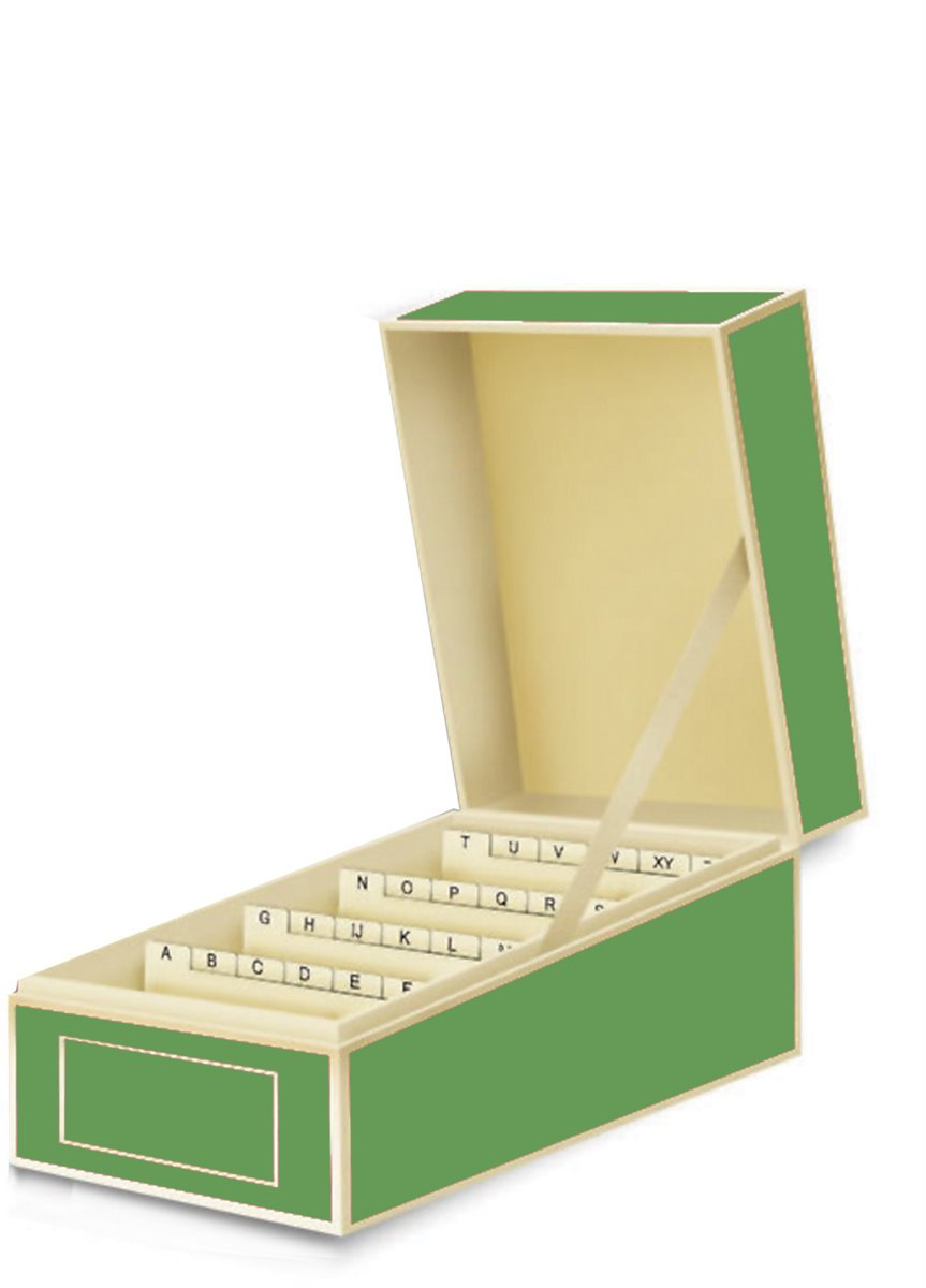 Amazon.com : Semikolon Business Card File Box, Dividers A to Z, Lime ...