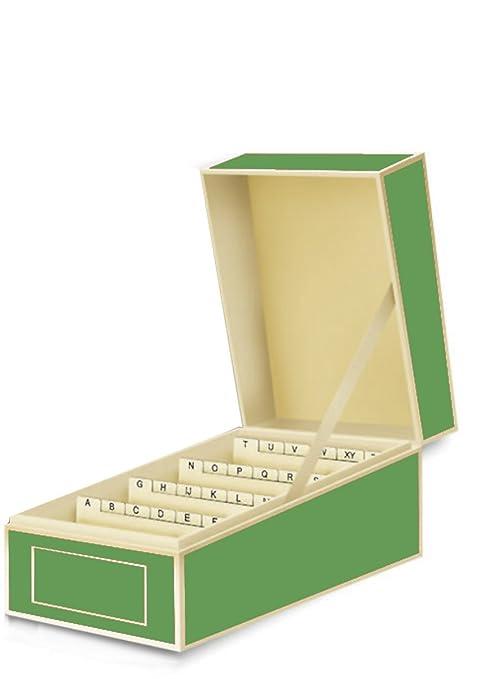 Amazon semikolon business card file box dividers a to z lime semikolon business card file box dividers a to z lime green 3230012 colourmoves