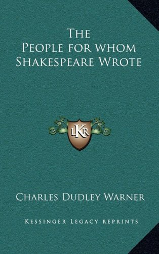 Download The People for whom Shakespeare Wrote ebook