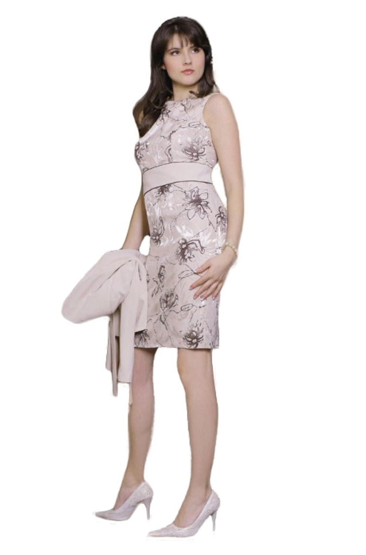 Elegantes Kleid Kostüm für den Sommer, zweiteiliges Cocktailkleid mit Blazer, knielang, figurbetont, Gr. 36