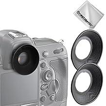 First2savvv Premium Quality DLSR Cameras Rubber Eyepiece Eyecup Magnifying Eyepiece for Nikon D750 D610 D600 D500 D300S D7200 D7100 D7000 D90 D5500 D5300 D5200 D5100 D5000 D3400 D3300 D3200 D3100 D3000 D700 D300 D200 D100 D80 D70 D70S D50 D60 DSLR Camera - QJQ-OX-N-X2-01G11