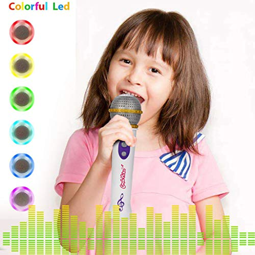 LtrottedJ Portable Microphone Mic Toy Music Colorful Lights Party Birthday Gift for Kids -