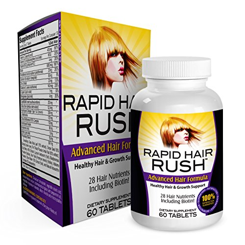 Rapid Hair Rush: Fast Hair Growth Vitamins/Supplements (with - Pill To Grow Hair