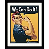 Framed Art Print, 'Rosie The Riveter (''We Can Do It!'')' by Howard Miller: Outer Size 25 x 31''