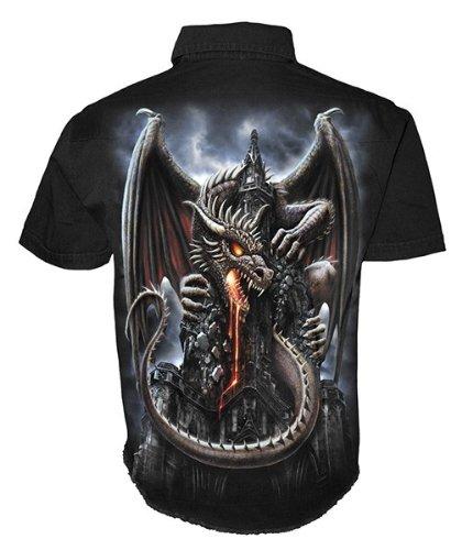 Spiral Dragon Lava Hemd, schwarz
