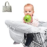 Shopping Trolley Cover, 2-in-1 Universal Shopping Cart Cover and High Chair Cover, 100% Cotton Upper, Full Safety Harness, Machine Washable for Baby by Blueyouth.