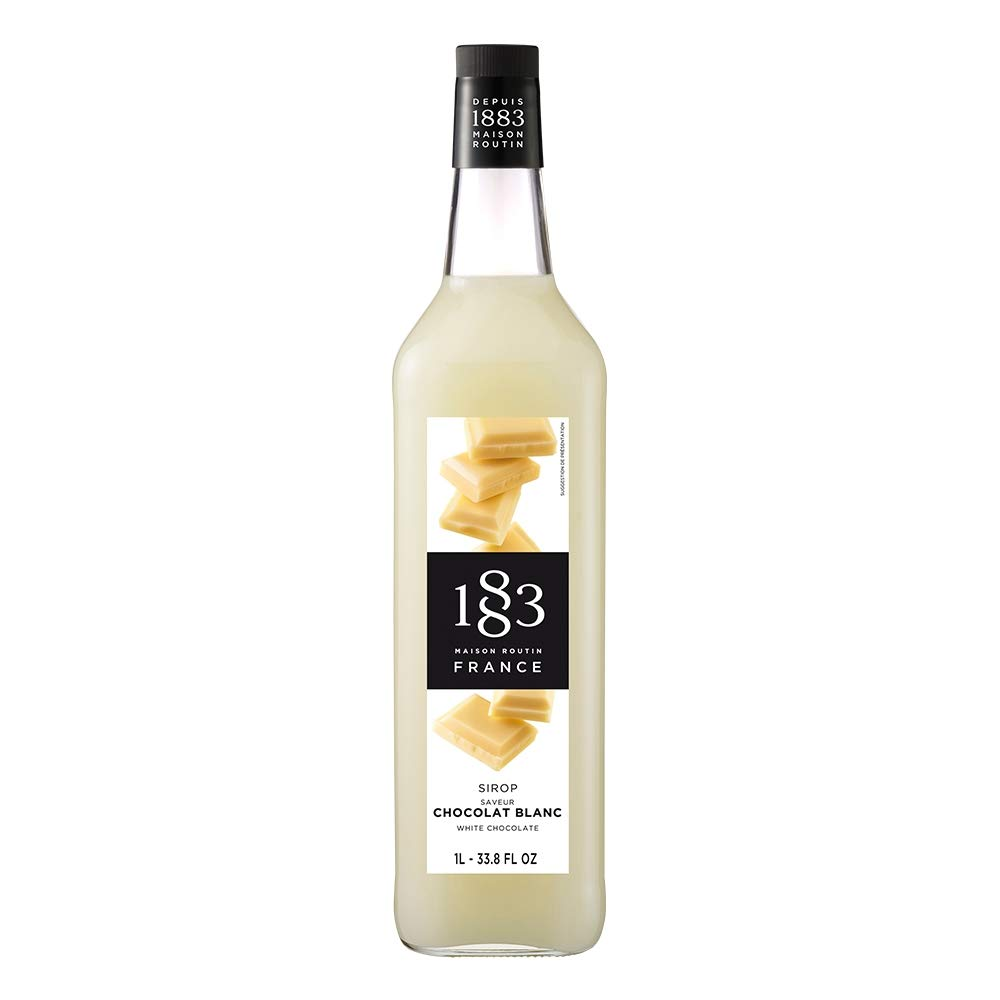 1883 Maison Routin - White Chocolate Syrup - Glass Bottle - 1 Liter