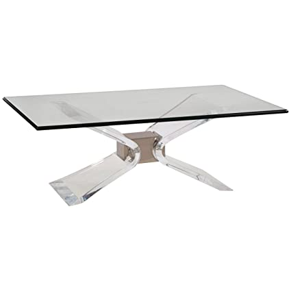 Attirant Bassett Mirror Hollywood Glam Silven Rectangle Cocktail Table 2999 100B TEC
