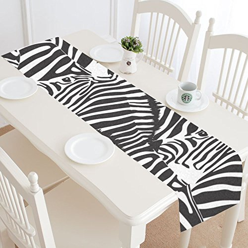 InterestPrint Fantasy Design Black Zebra Cotton Linen Cloth