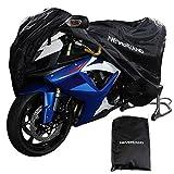 NEVERLAND L Black Motorcycle Storage Cover 180T Waterproof Outdoor Indoor Rain Dust UV Protector Motorbike