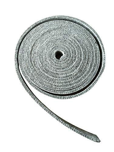 BroilPro Accessories 800F High Temp Rated BBQ Smoker Gasket Self Stick Felt 15ft Long, 3/4
