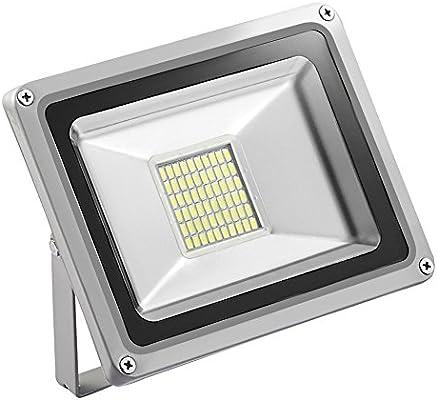 Reflector LED, de HimanJie, de aluminio, exterior, luz blanca fría ...