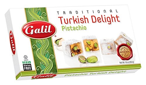 Galil Turkish Delight, Pistachio, 16-Ounce Boxes (Pack of (Kosher Pistachios)