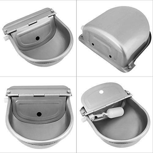 Cocoarm Stainless Steel Automatic Waterer Bowl with Float Valve Water Trough for Horse Cattle Goat Sheep Pig Dog by Cocoarm (Image #1)