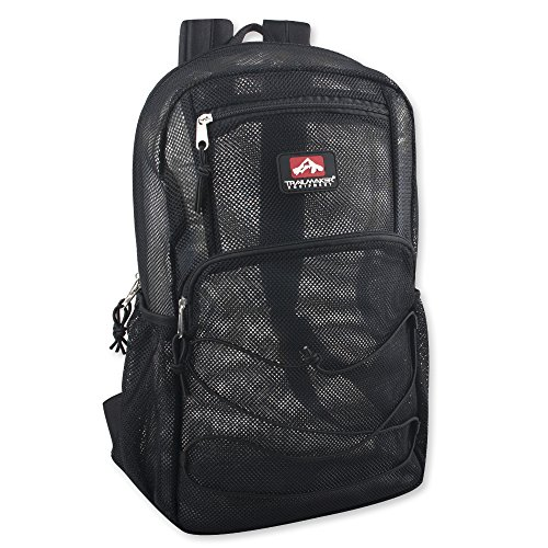 (Trailmaker Sheer Mesh Backpack Deluxe with Bungee Cord & Adjustable Padded Back Straps)