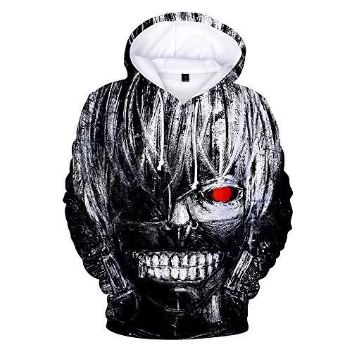 Tokyo Ghoul Women/Men Hoodie 3D Print Funny and Cool Sweatshirt Hip Hop Sportswear Unisex Hoodie Big Size 4XL