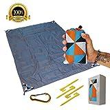 Outdoor Picnic Blanket - Compact, Lightweight, Sand Proof Pocket Blanket Best Mat