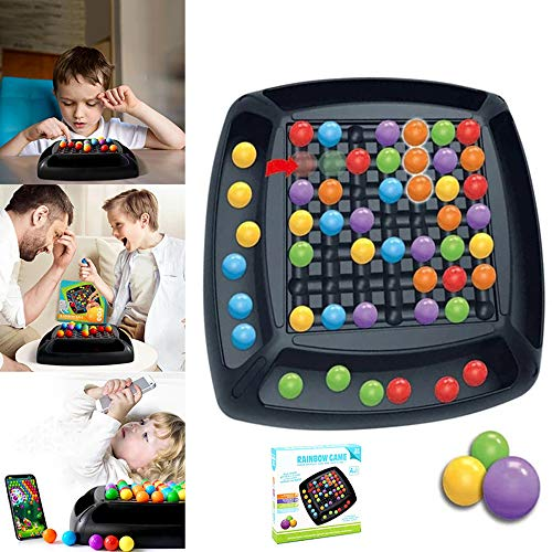 TKSTYLE Rainbow Ball Elimination Game Puzzle Magic Chess Toy Set, Kid Family Interaction Family Game, para 3-6 años de…