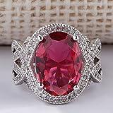 Women Fashion Jewelry 925 Sterling Silver Ruby Gem Wedding Bridal Ring Size 5-11#by pimchanok shop (7)