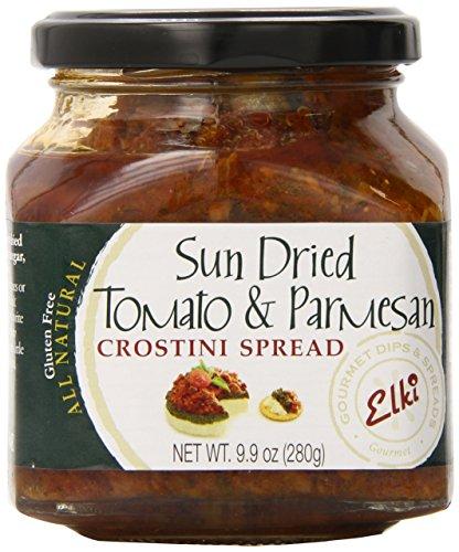 (Elki's Gourmet Sundried Tomato and Parmesan Crostini Spread, 9.9)