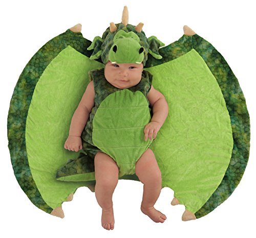 [Princess Paradise Baby's Swaddle Wings Darling Dragon Deluxe Costume, As Shown, 0/3M] (Dragon Girl Costume)