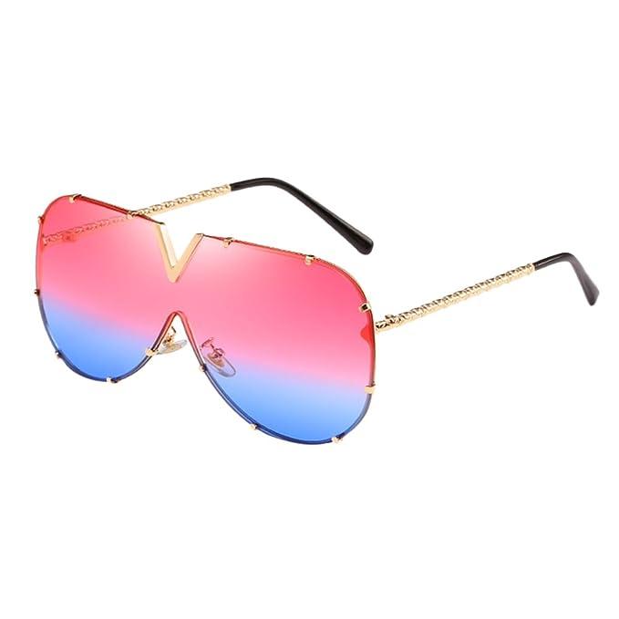 0d42fbef76 Zhuhaitf Grande Marco Cuadrado Comodidad Sentido Metal Marco Ladies Mens Sunglasses  Gafas Unisexo Gafas de Sol para Mujeres y Hombres: Amazon.es: Ropa y ...