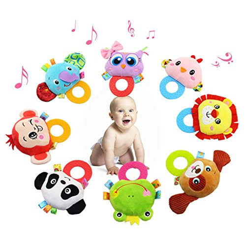 Wooden Bell Rattle Baby Handbell Musical Educational Toy - 7