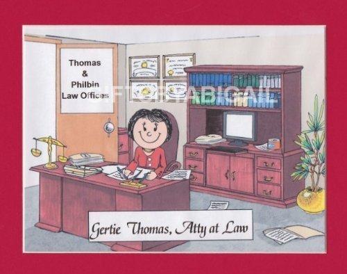 Lawyer Personalized Gift Custom Cartoon Print 8x10, 9x12 Magnet or Keychain by giftsbyabigail