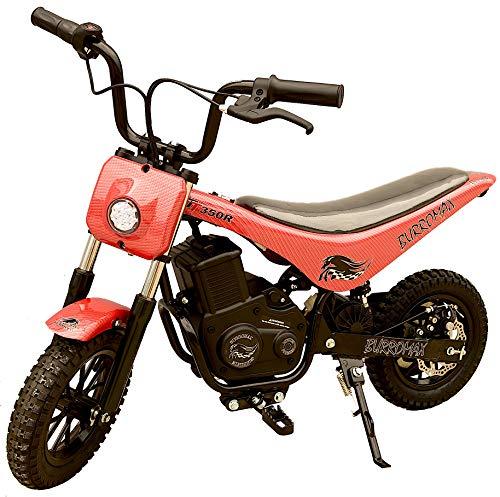 Burromax TT350R Lithium Ion Electric Mini Bike-Red Carbon Fiber - Pocket Rocket Mini Electric Motorcycle