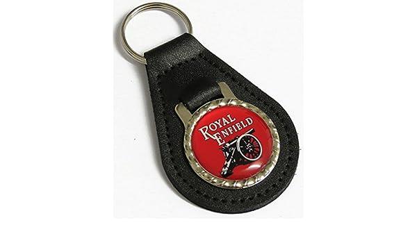 Royal Enfield Emblema - Llavero de piel para llavero de ...