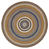 Cheap VHC Brands Classic Country Rustic & Lodge Flooring – Riverstone Grey Round Jute Rug, 6′ Diameter