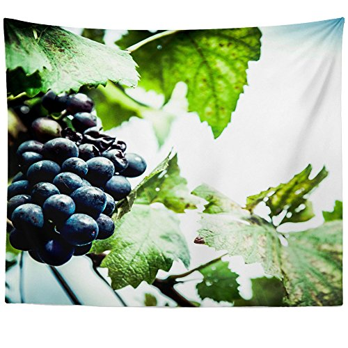 Westlake Art Wall Hanging Tapestry - Wine Grape - Photography Home Decor Living Room - 68x80in (x8z-8c3-533) - Chenin Blanc Dry Wine
