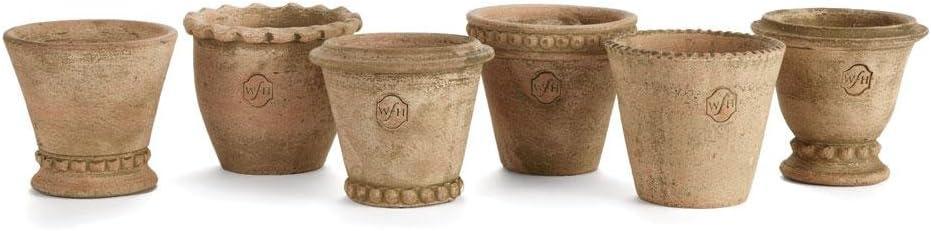 Napa Home & Garden Wh Mini Pots, Set of 6