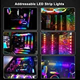 PC RGB LED Strip Light, 2pcs DreamColor Magnetic
