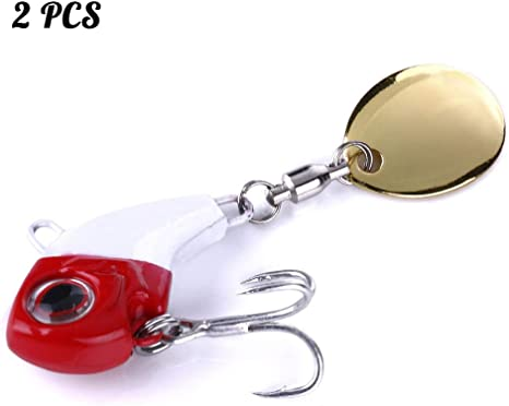 GWFISH Juego De Spinner Artificial Lure, Spinning Lure para Pike ...