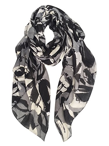 (GERINLY Tropical Scarf Leaves Print Soft Cozy Wrap Shawl for Women)