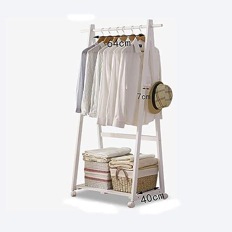 ZYL Percheros de pie Leqi Wood Coat Rack Floor Clothes Rack ...