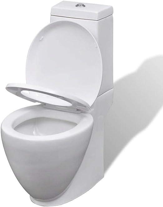 mewmewcat Juego de váter WC y bidé de cerámica Blanco 58 x 40 x 40 cm: Amazon.es: Hogar