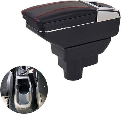 Universal Car central /à nourriture Accoudoir Box Cuir PU Auto Car-styling central stocker du contenu Bo/îte Porte-gobelet Accessoires universel pi/èces