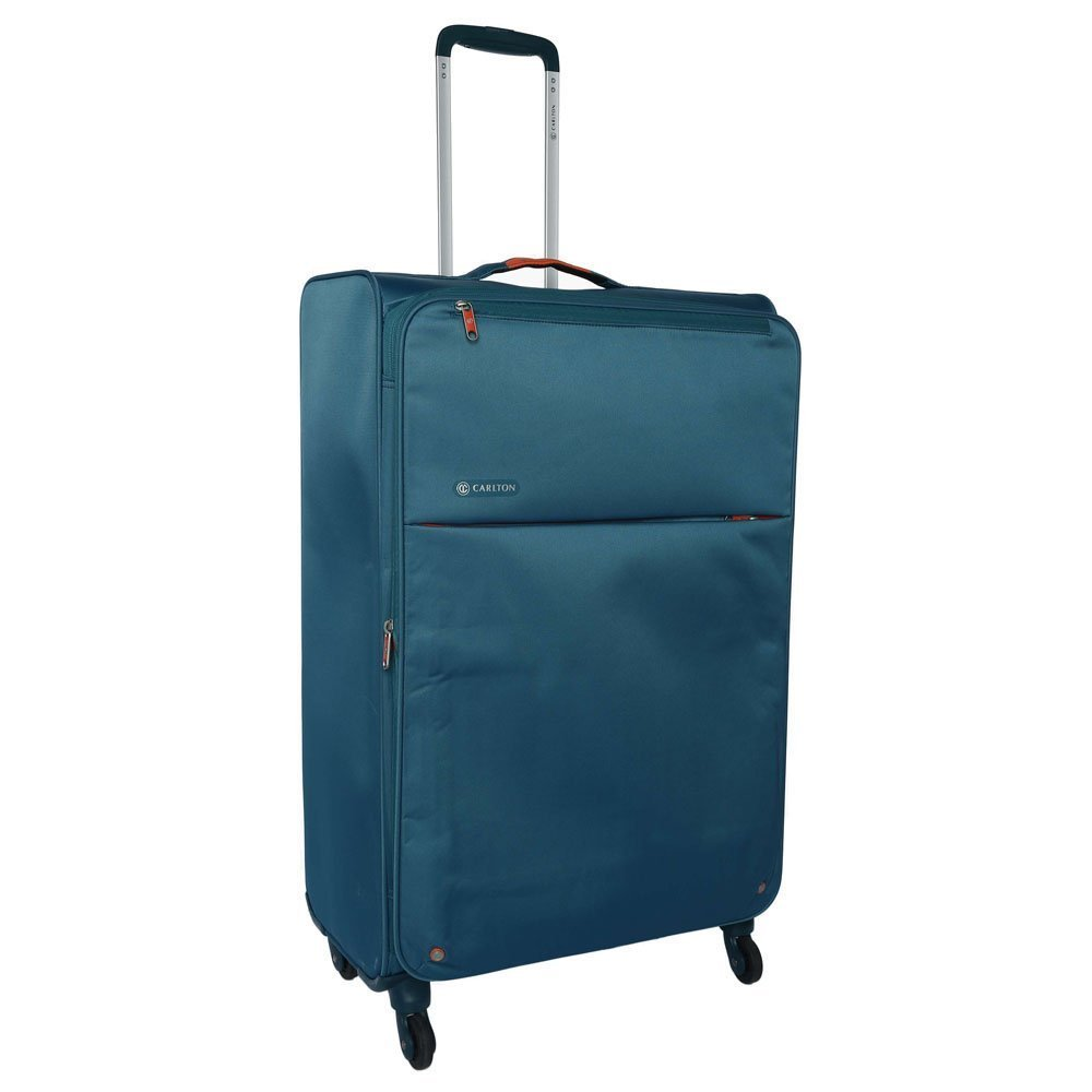 462b84408 Carlton Synthetic Teal Zipper Closure Soft Trolley: Amazon.in: Bags,  Wallets & Luggage