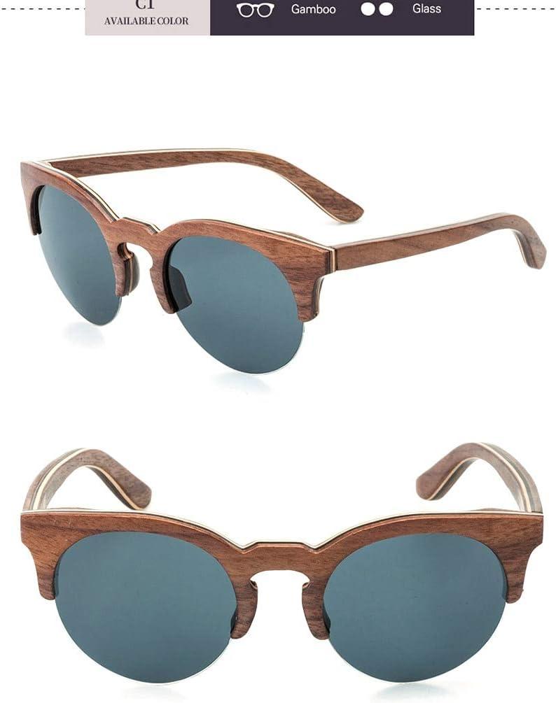 YJDZHSQ Occhiali da Sole in Legno di bambù Cat Eye Occhiali da Sole da Donna Specchio da Uomo Occhiali da Vista per Uomo No 1