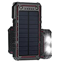 Solar Charger, Portable Solar Power Bank...