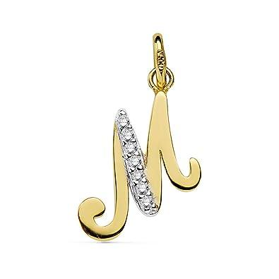 encontrar el precio más bajo original mejor calificado venta usa online Alda Joyeros Colgante Inicial M Oro Amarillo 18 Kilates (750 ...