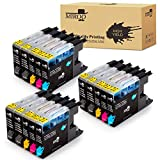 MIROO Compatible Replacement for Brother LC75 LC71 LC79 XL Ink Cartridges 15 Pack, Work for Brother MFC J280W J825DW J430W J835DW J625DW J425W J6710DW J280W J6910DW J5910DW J6510DW J435W Printer