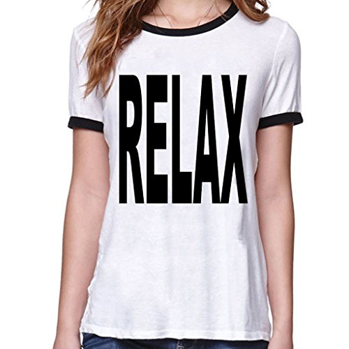 VetiVer Women's Relax Tee Shirt Small White (What To Wear To 80s Party)