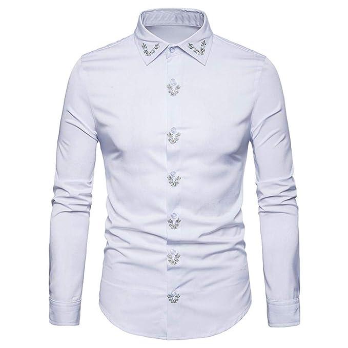 ¡Liquidación Camisas Militares del Camuflaje de los Hombres, Yvesland Hipster Ajuste Largo del botón