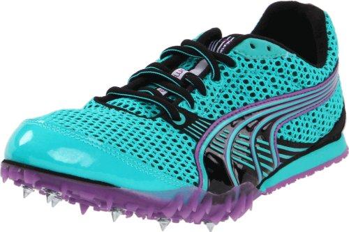 Puma Womens Complete TFX Distance 3 Running Shoe Ceramic Green/Black/Dewberry